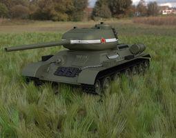 T-34 85 Tank HDRI 3D model