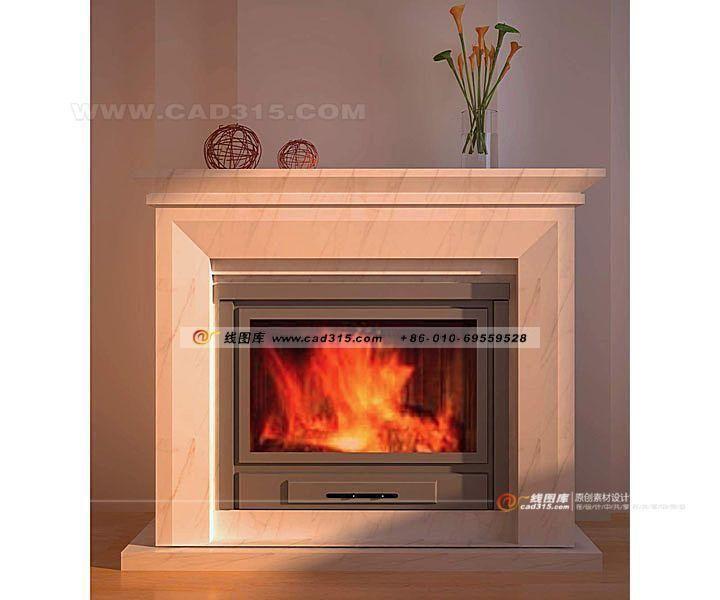 Stylish home furnishings European style fireplace design