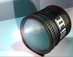 camera lens 3d model c4d