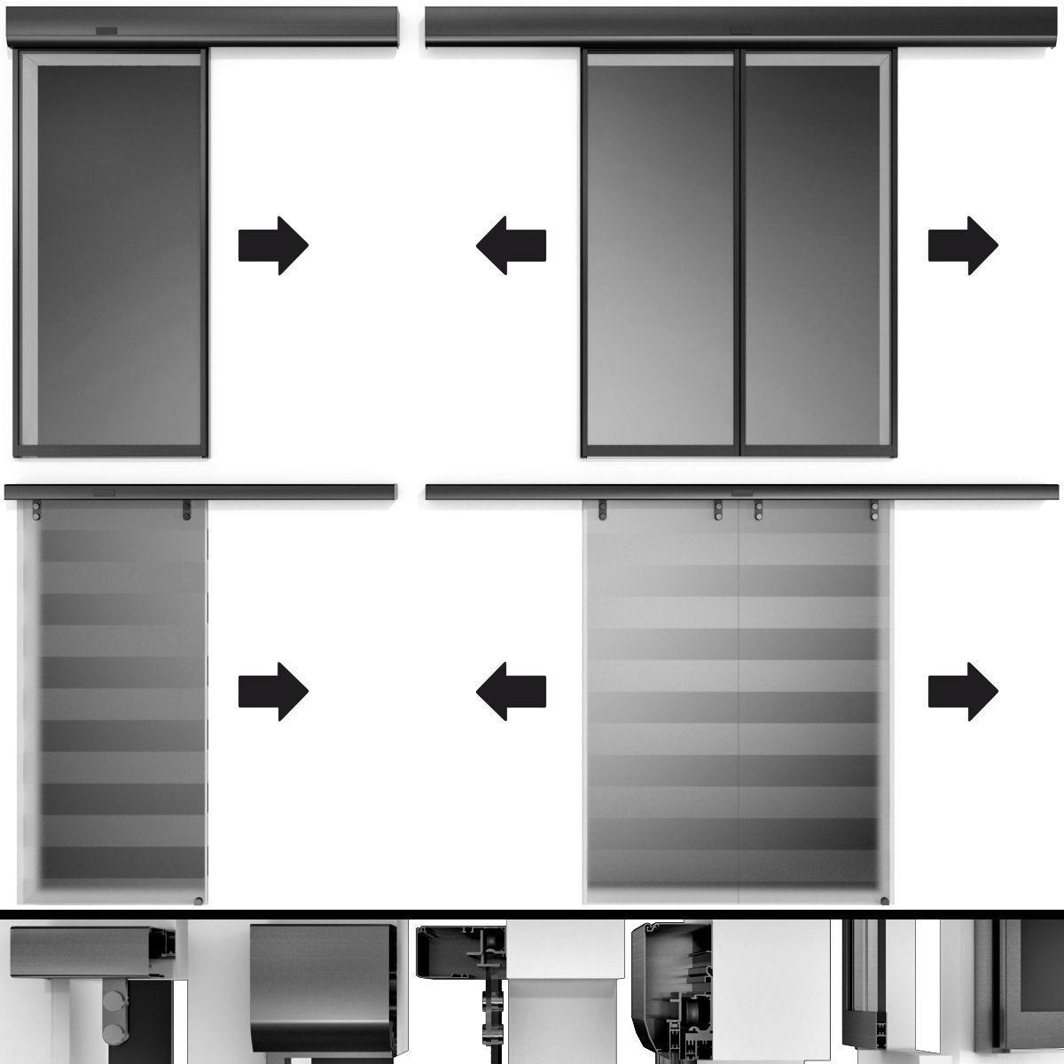 Automatic Sliding Metal Glass Doors