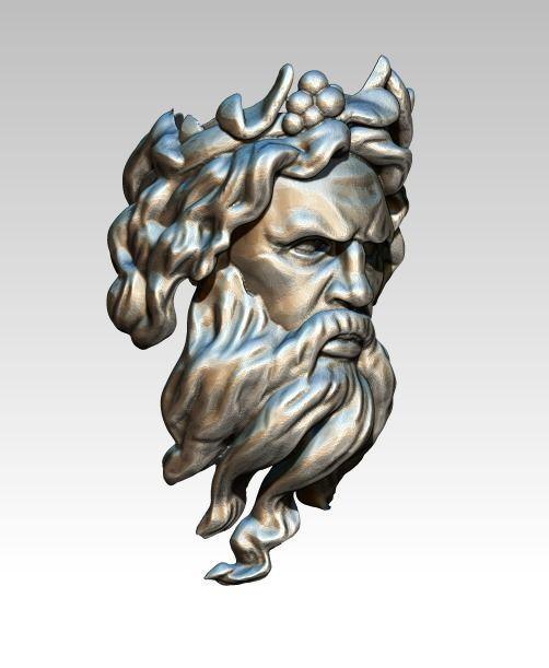Zeus Man Ring Head Face Bust