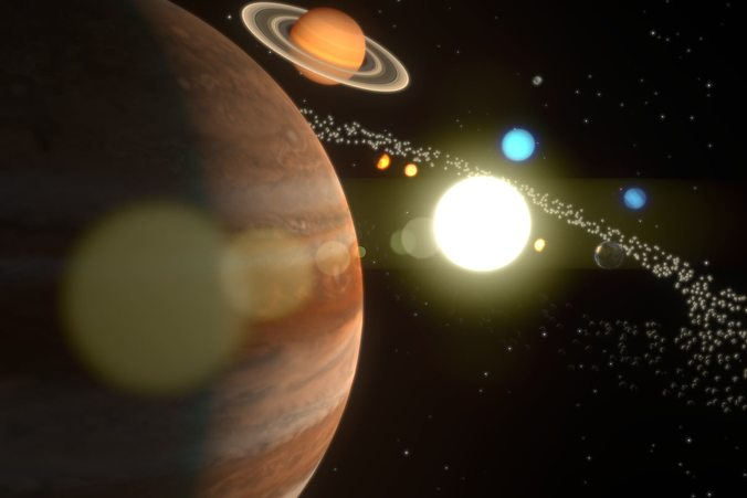 3d Model The Solar System Cgtrader
