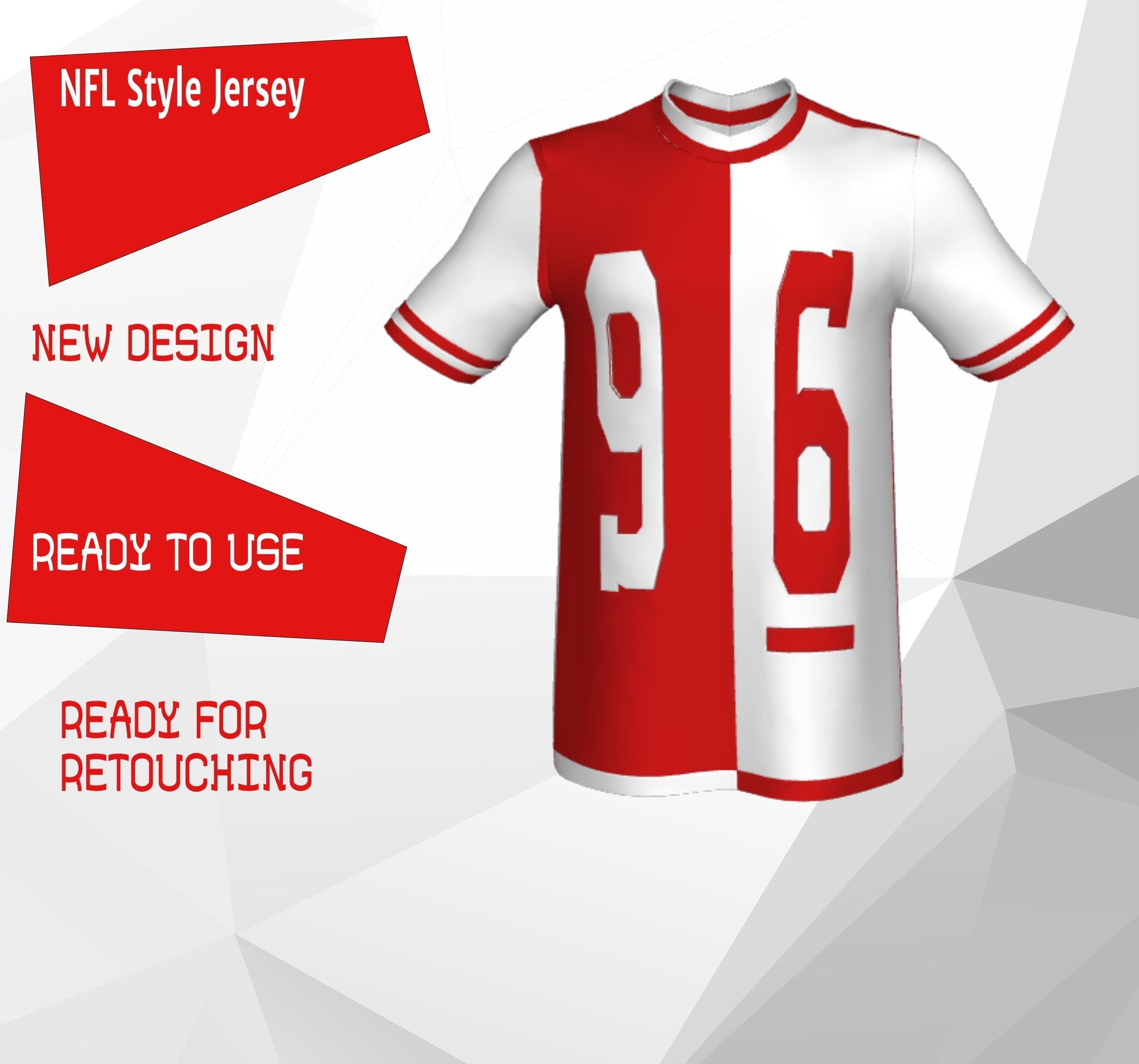 promo code a3dae 1daaa NFL Style Jersey   3D model