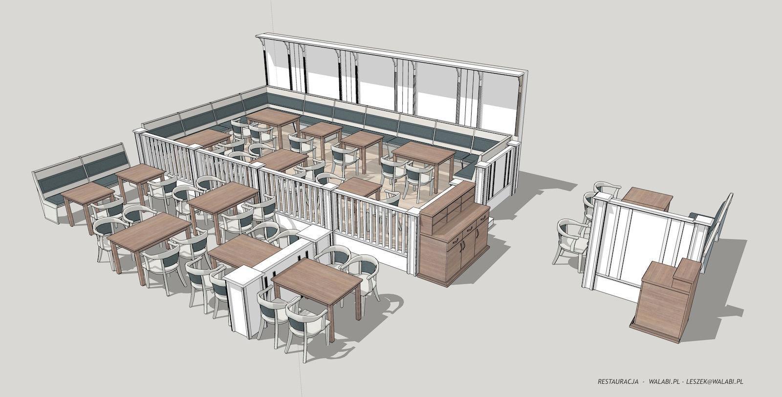 restaurant 3d model obj 3ds dae skp