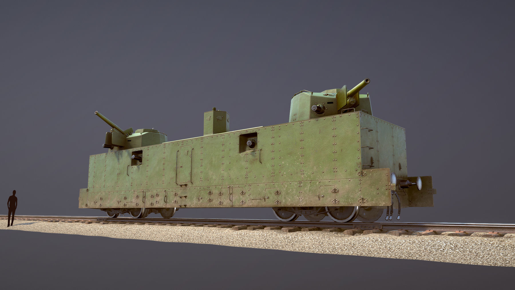 Armored Train PL-37 Railway Light Artillery Wagon