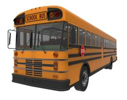 game-ready american school bus 3d asset