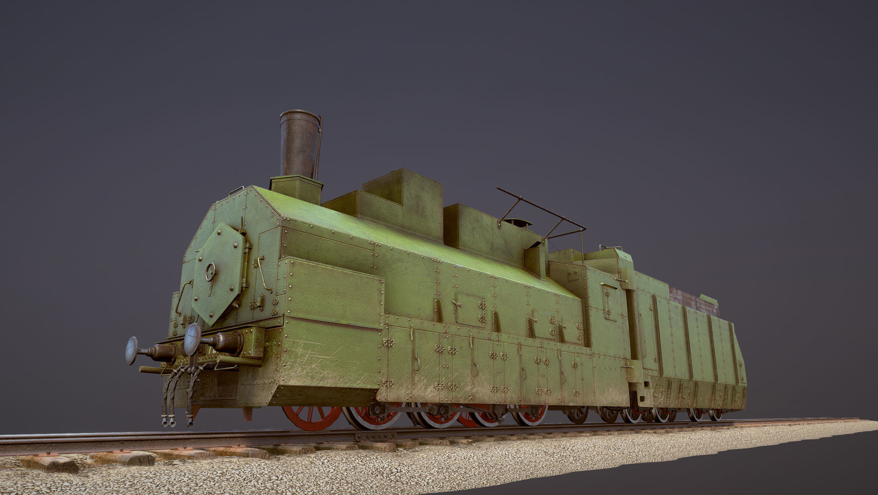 Armored Train PR-35 Locomotive