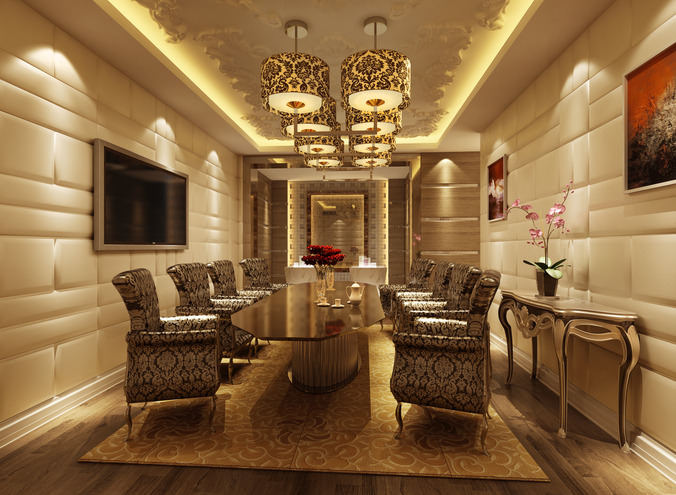 chair-office Luxury conference room 3D | CGTrader
