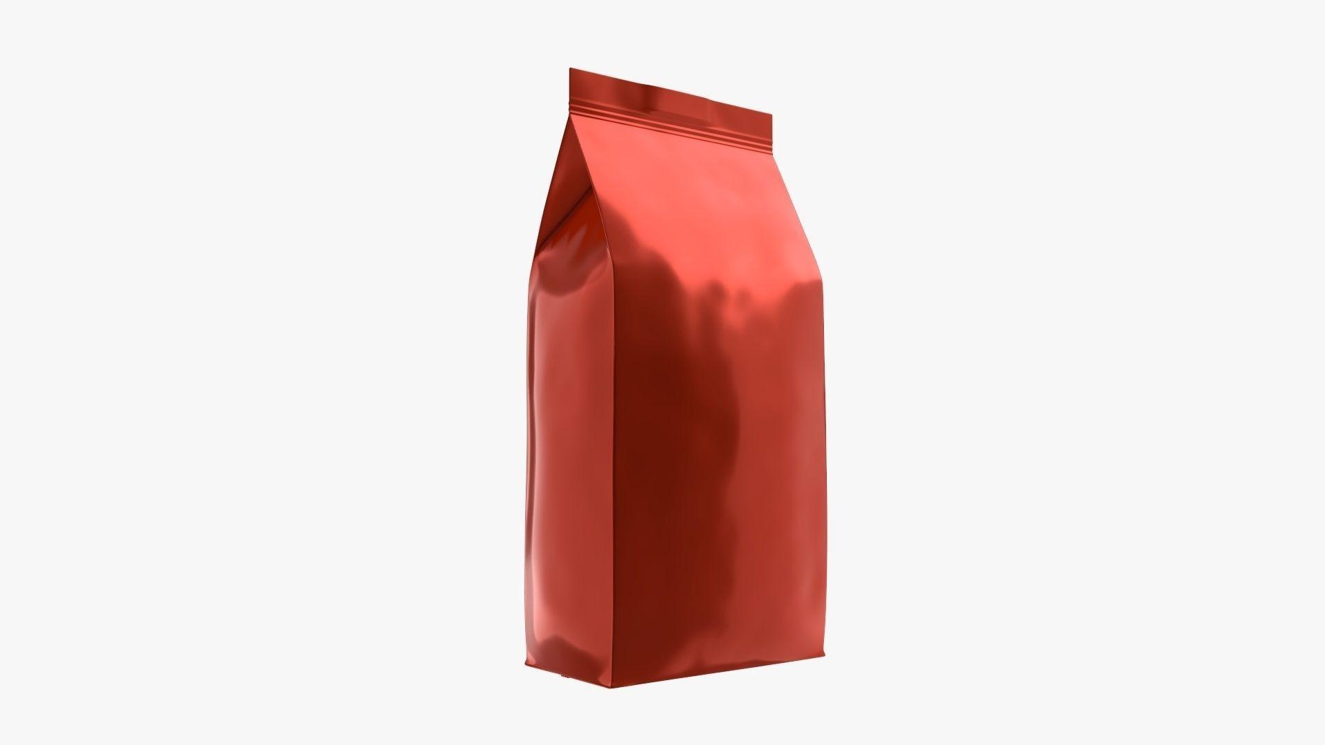 Plastic coffee bag package packet medium mock-up