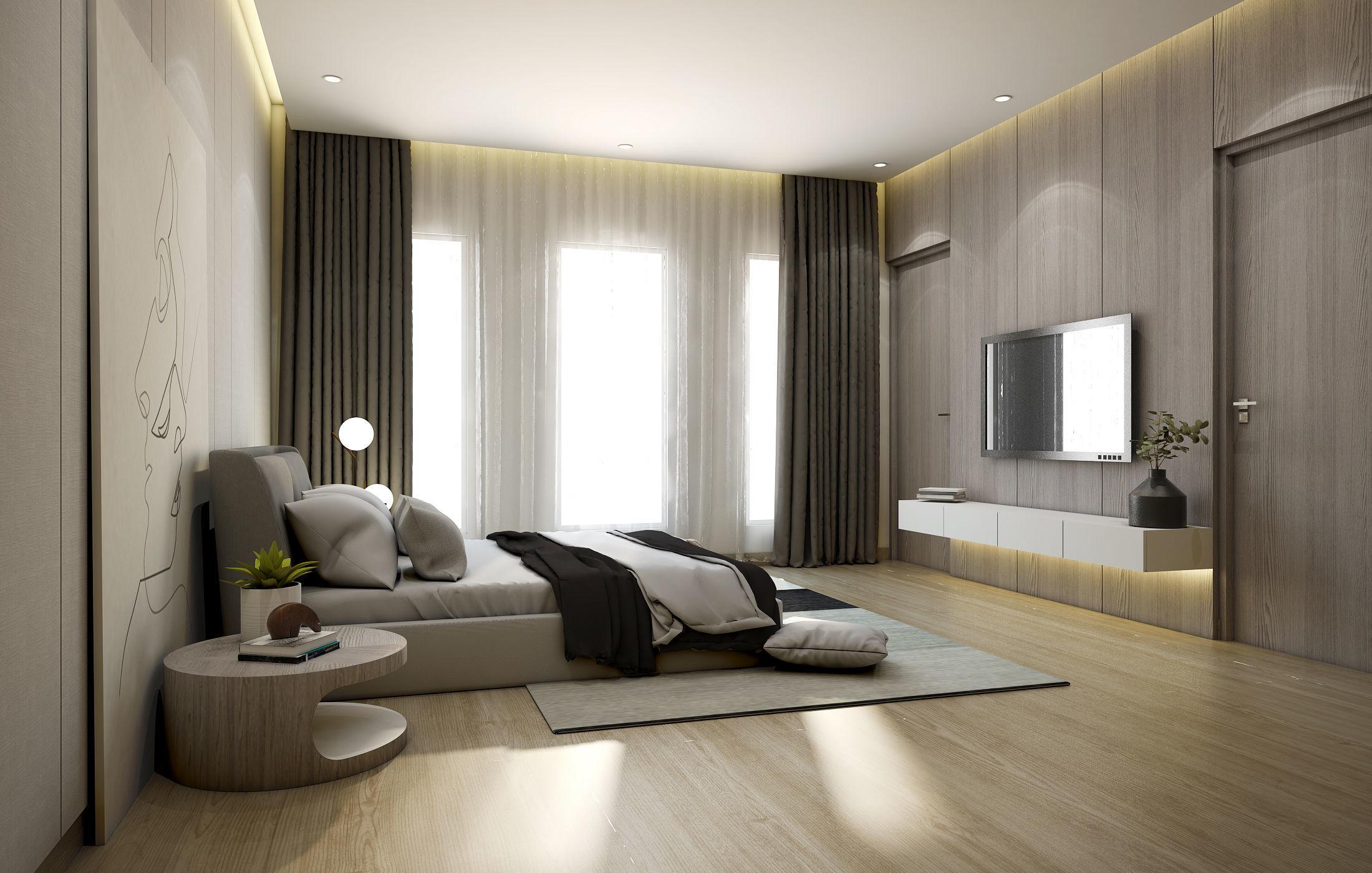 Model Simple Bedroom Cgtrader