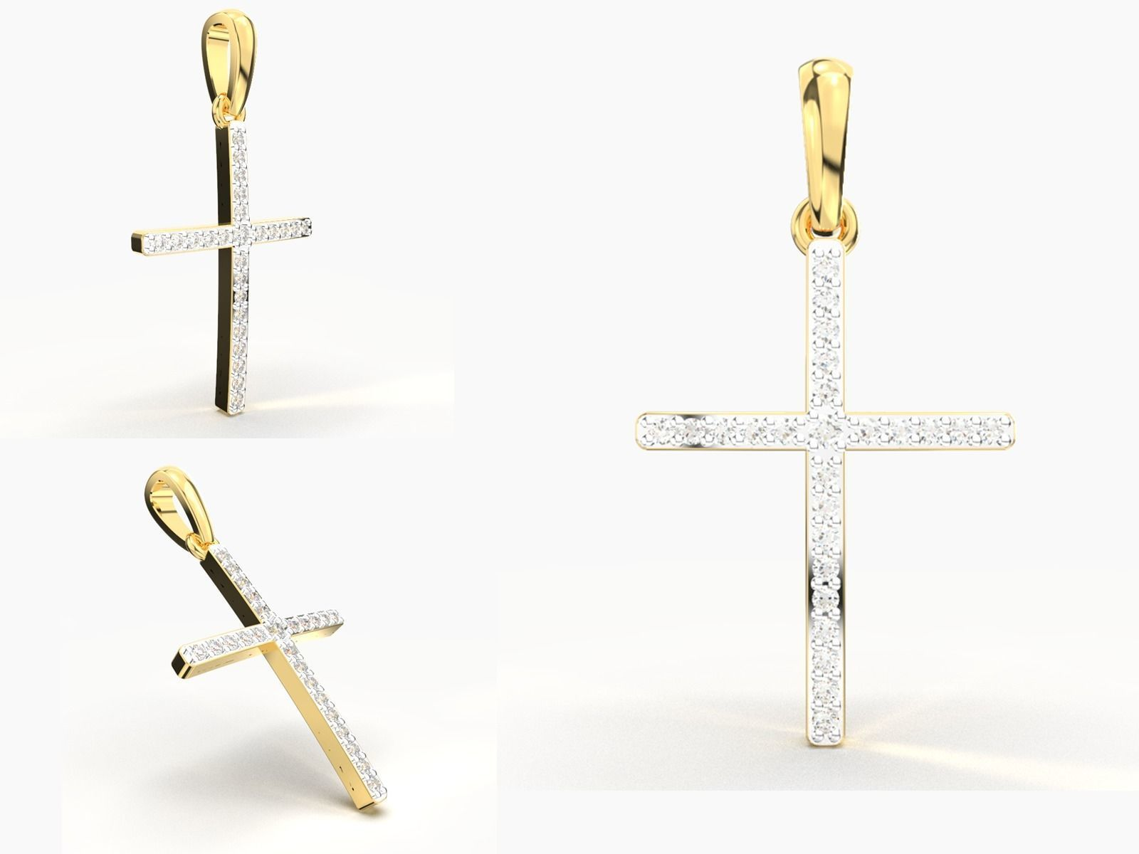 JESUS CROSS DIAMOND PENDANT
