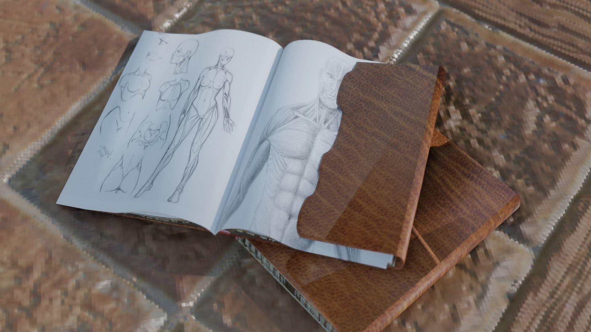 Old Drawing Book for Blender