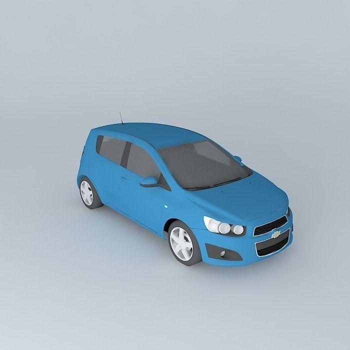 2011 Chevrolet Sonic Aveo 3d Model Max Obj 3ds Fbx Stl
