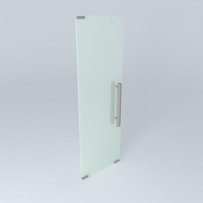 Glass door free 3d model max obj 3ds fbx stl skp for Door 3d model