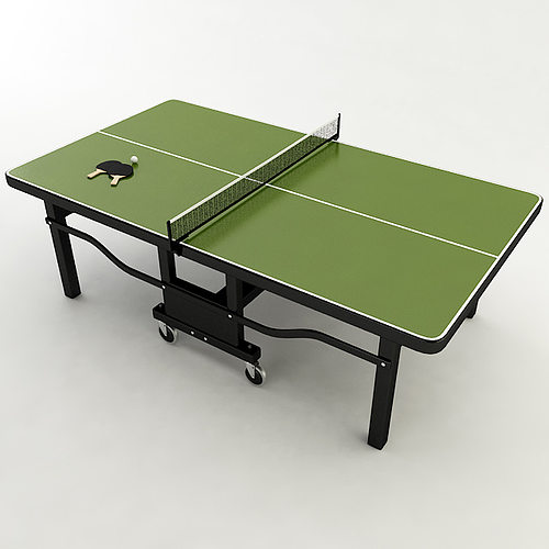 3d model ping pong table cgtrader for Table ping pong