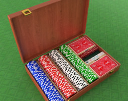 3D model Poker Equipment Collection