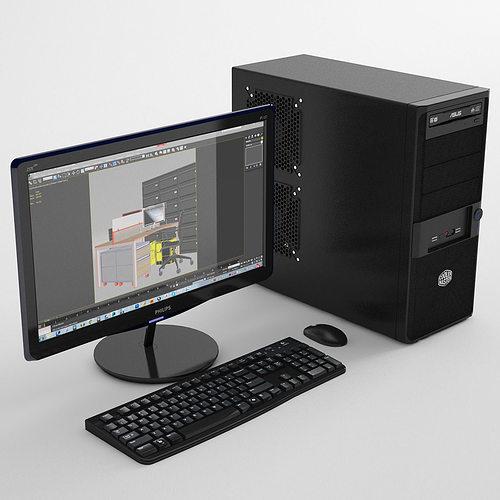 personal computer 3d model max obj mtl fbx 1