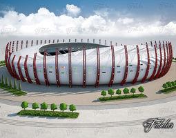 sidewalk 3D model Stadium