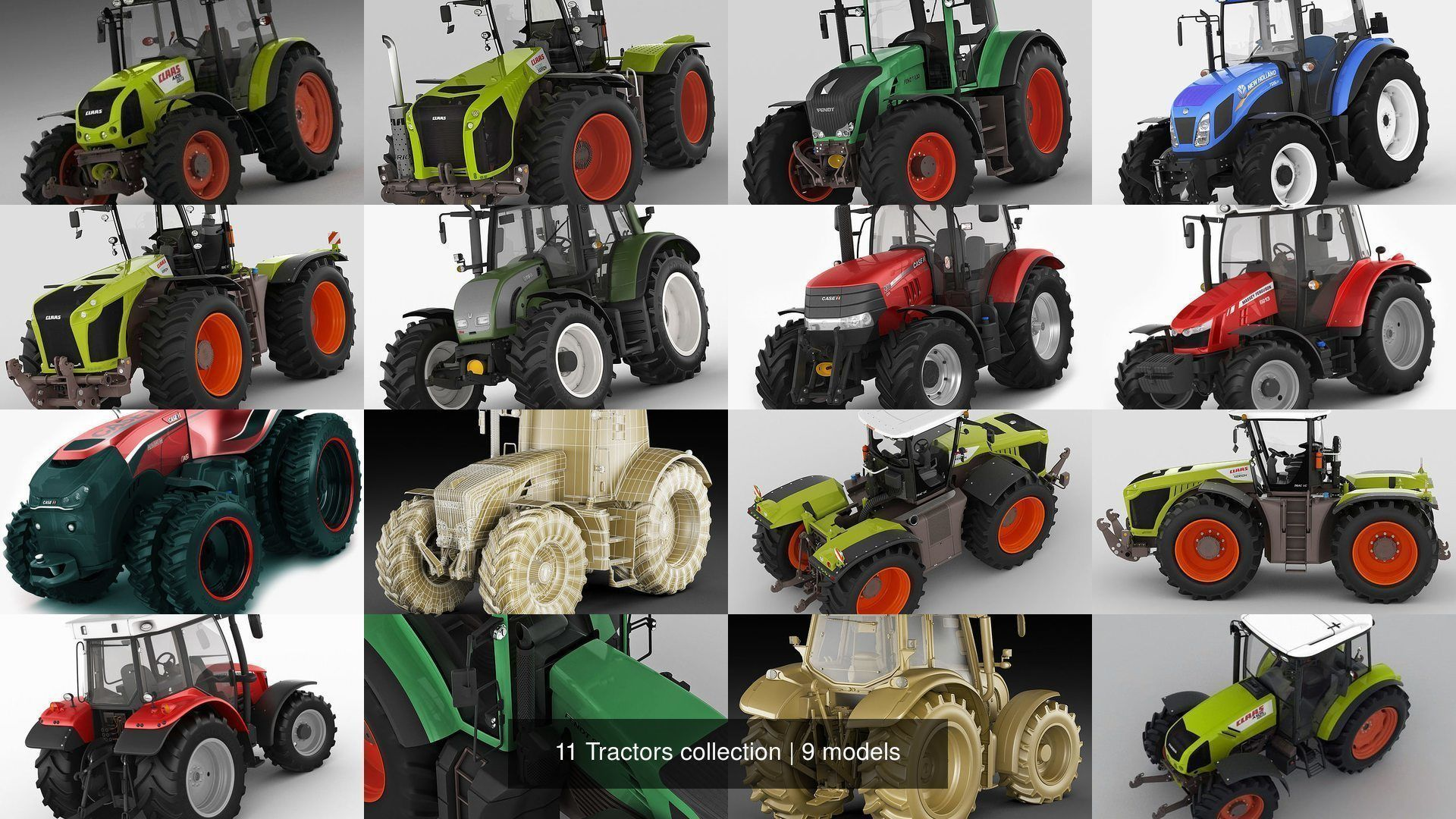 11 Tractors collection