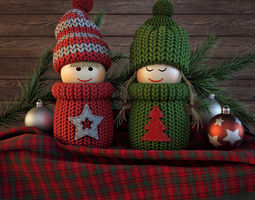 christmas dolls 3d