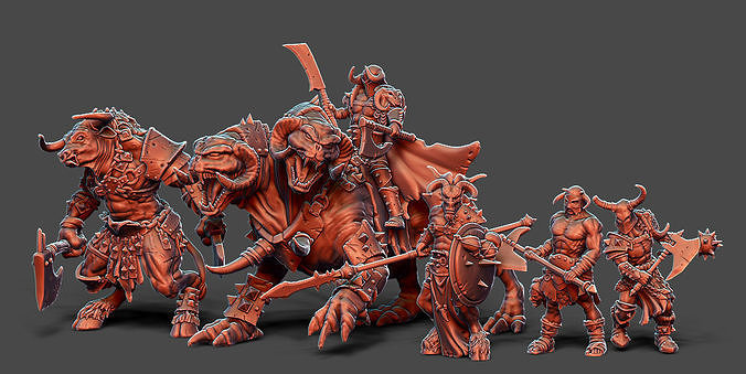 Chaos Horde - 5 miniatures 35 mm scale