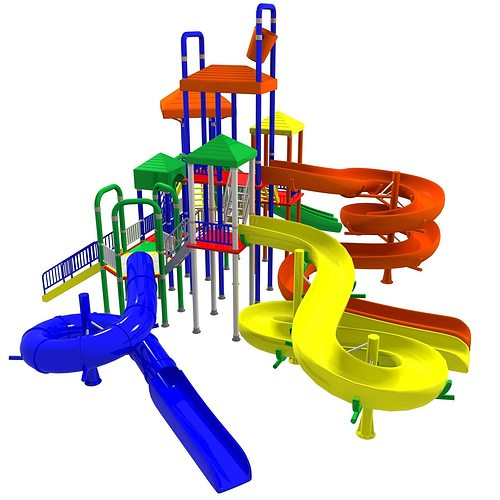 3d Model Big Toys Playground Cgtrader
