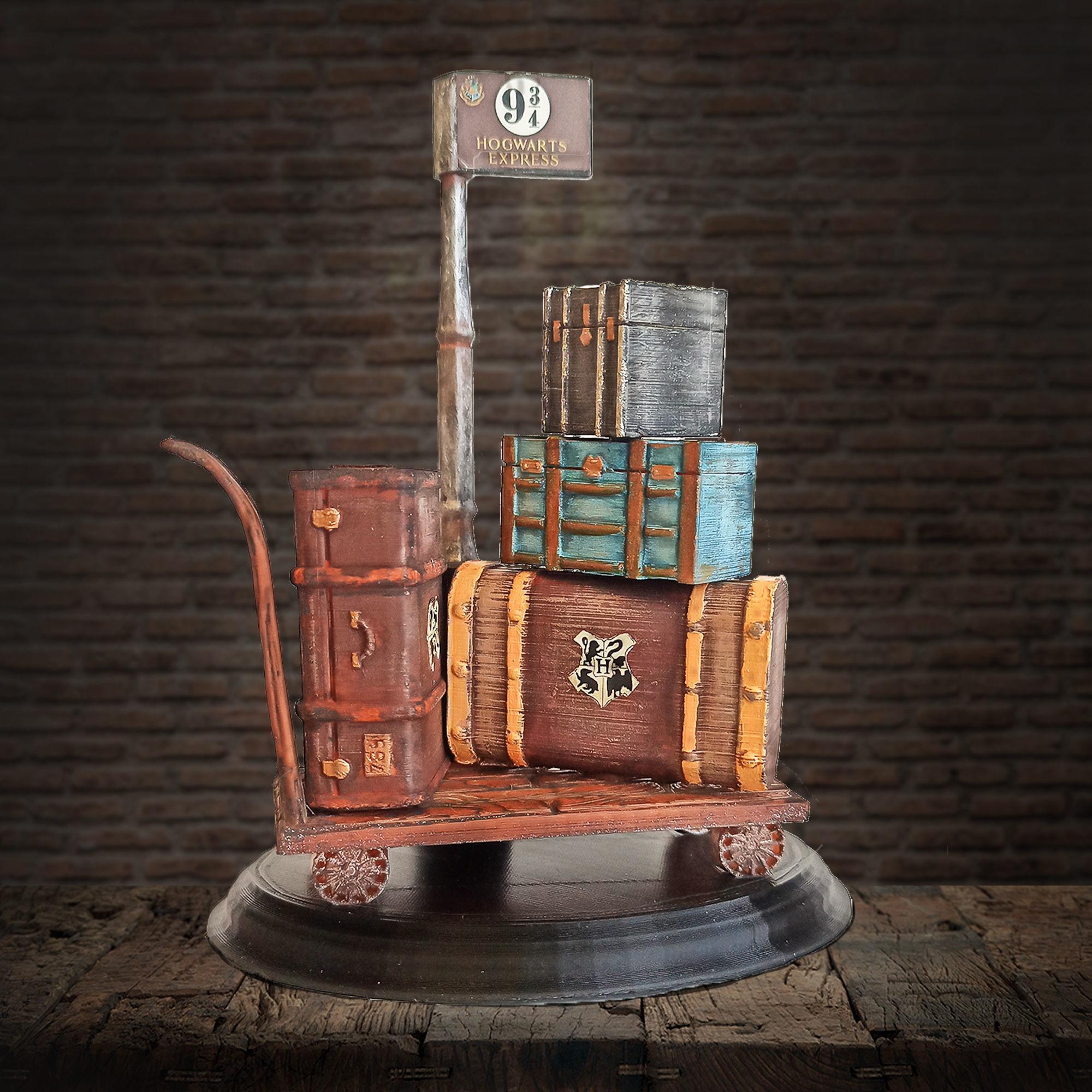 Harry Potter Trunks Luggage Cart - Hogwarts Express