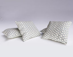 3d model contemporary cushion02
