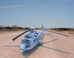 eurocopter model VR / AR ready 3d asset