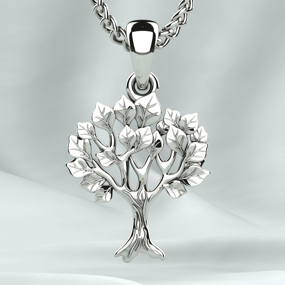 Low Weight Gold Tree Pendant
