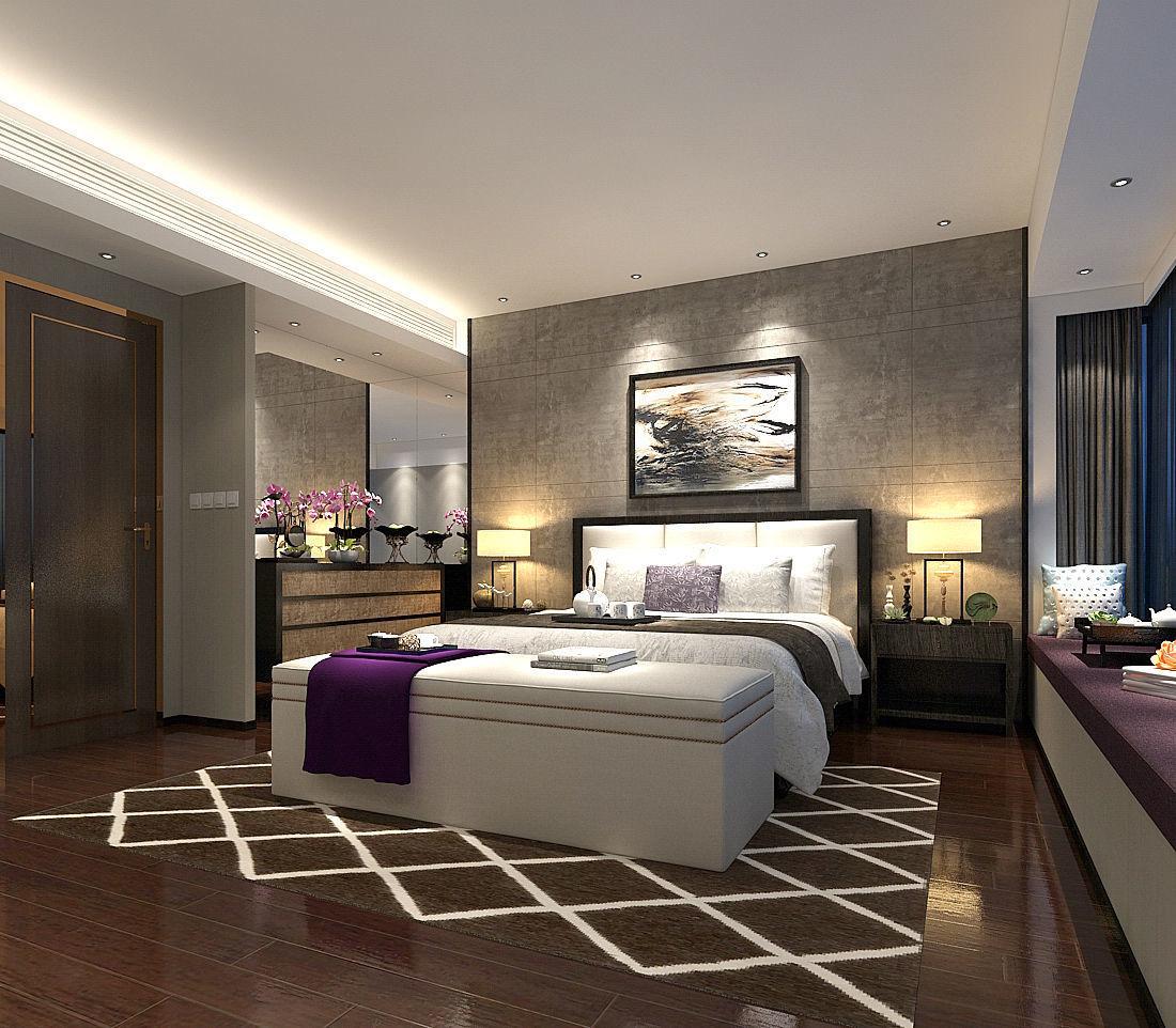 Deluxe master bedroom design 187 3D model   CGTrader on Model Bedroom Design  id=45697