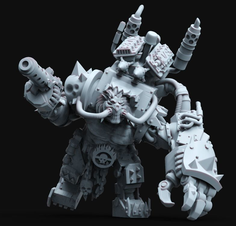 The ImmOrkan Mad Max style Orc Warboss