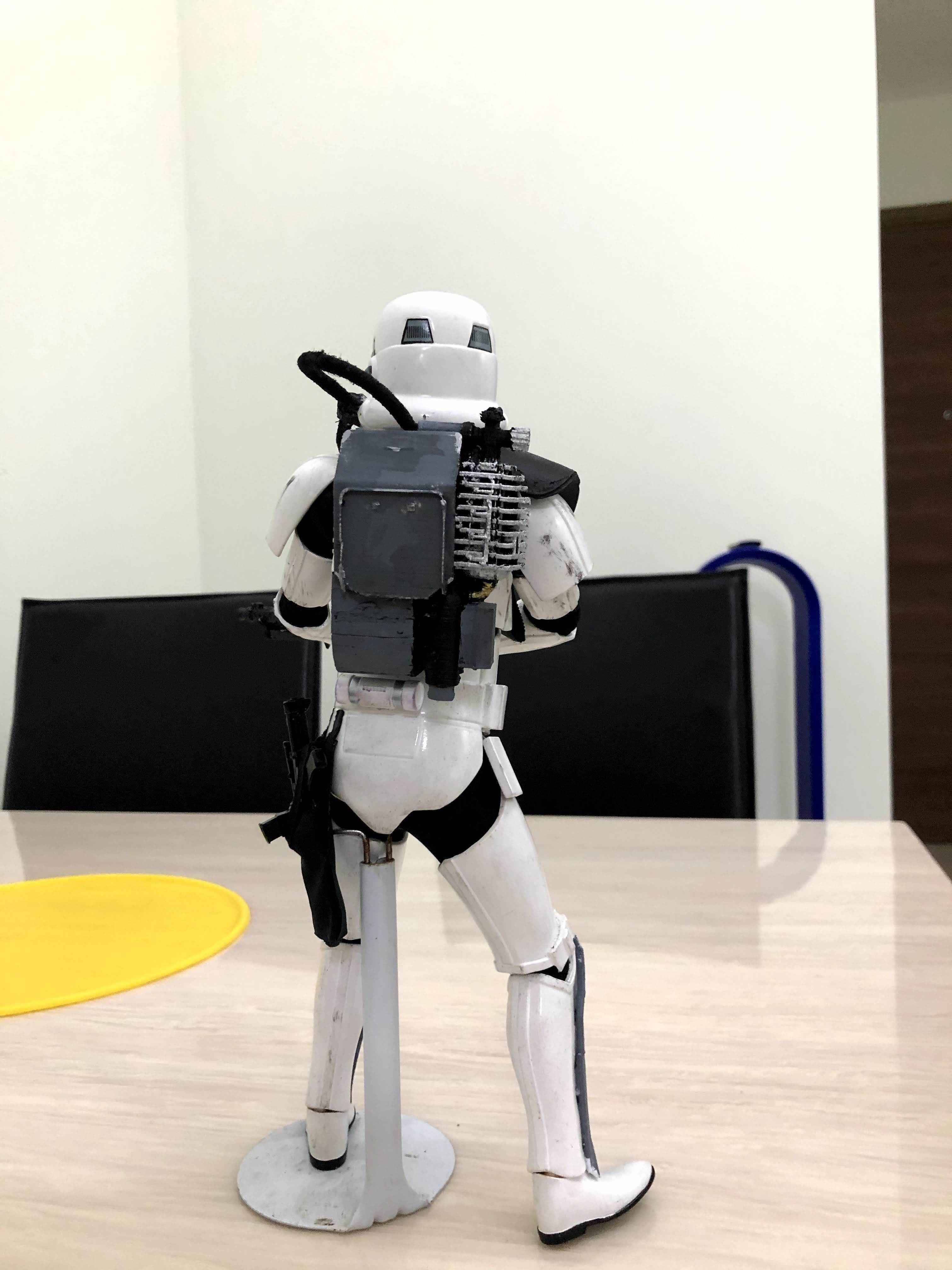 Star Wars Battlefront Magma trooper backpack full set