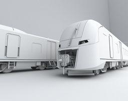 3d model russian train from rzd company lastochka swallow