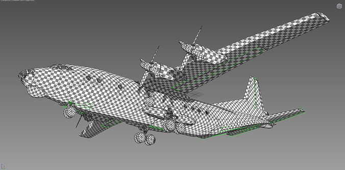 airplane an12 ussr 3d model max obj 1