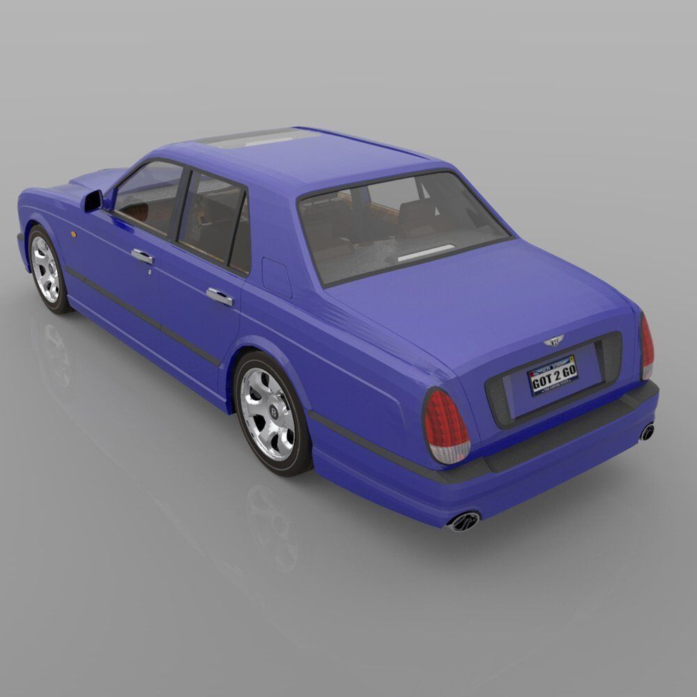 Bentley Arnage 3D Model Rigged OBJ PZ3 PP2