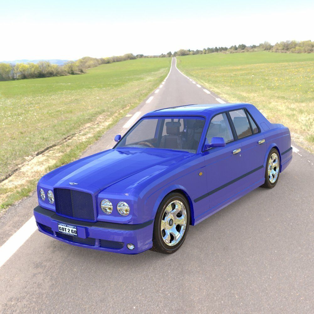 Bentley Arnage 3d Model Rigged Obj Pz3 Pp2 Cgtrader Com