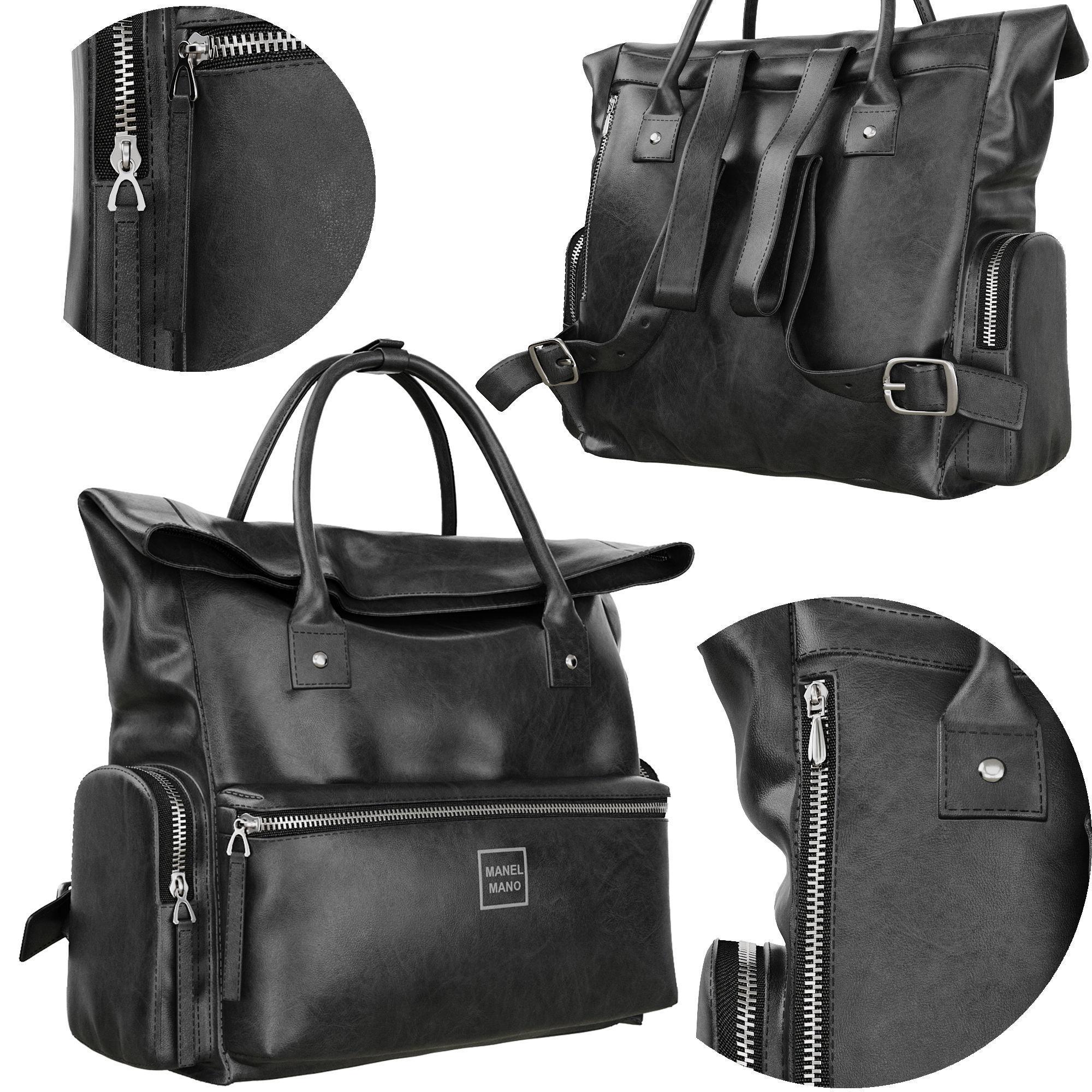 Leather bag Manel Mano