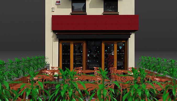 coffee shop 1 3d model obj fbx sldprt sldasm slddrw mtl 1