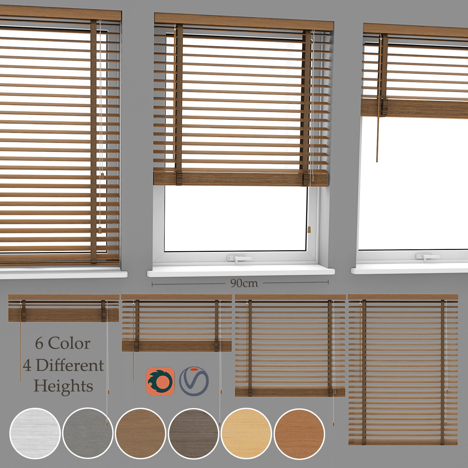Wood Blinds Venetian And Window 3d Cgtrader