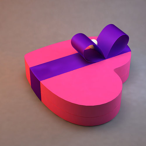 heart box 3d model max obj mtl 3ds fbx ma mb 1