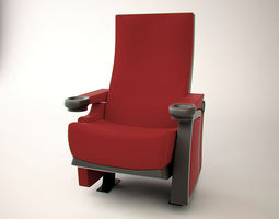 realtime cinema chair 3d model