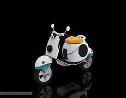 3d white scooter