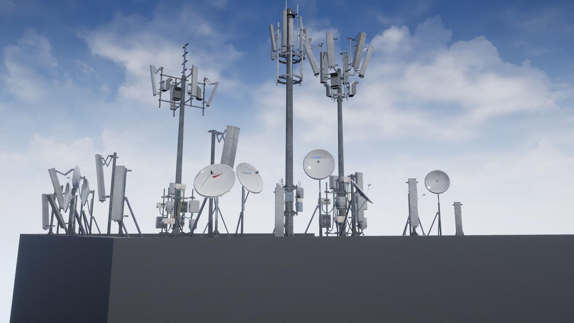 Cellular  TV  Radio  Antenna towers