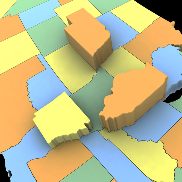 3D model United States of America Map  CGTrader