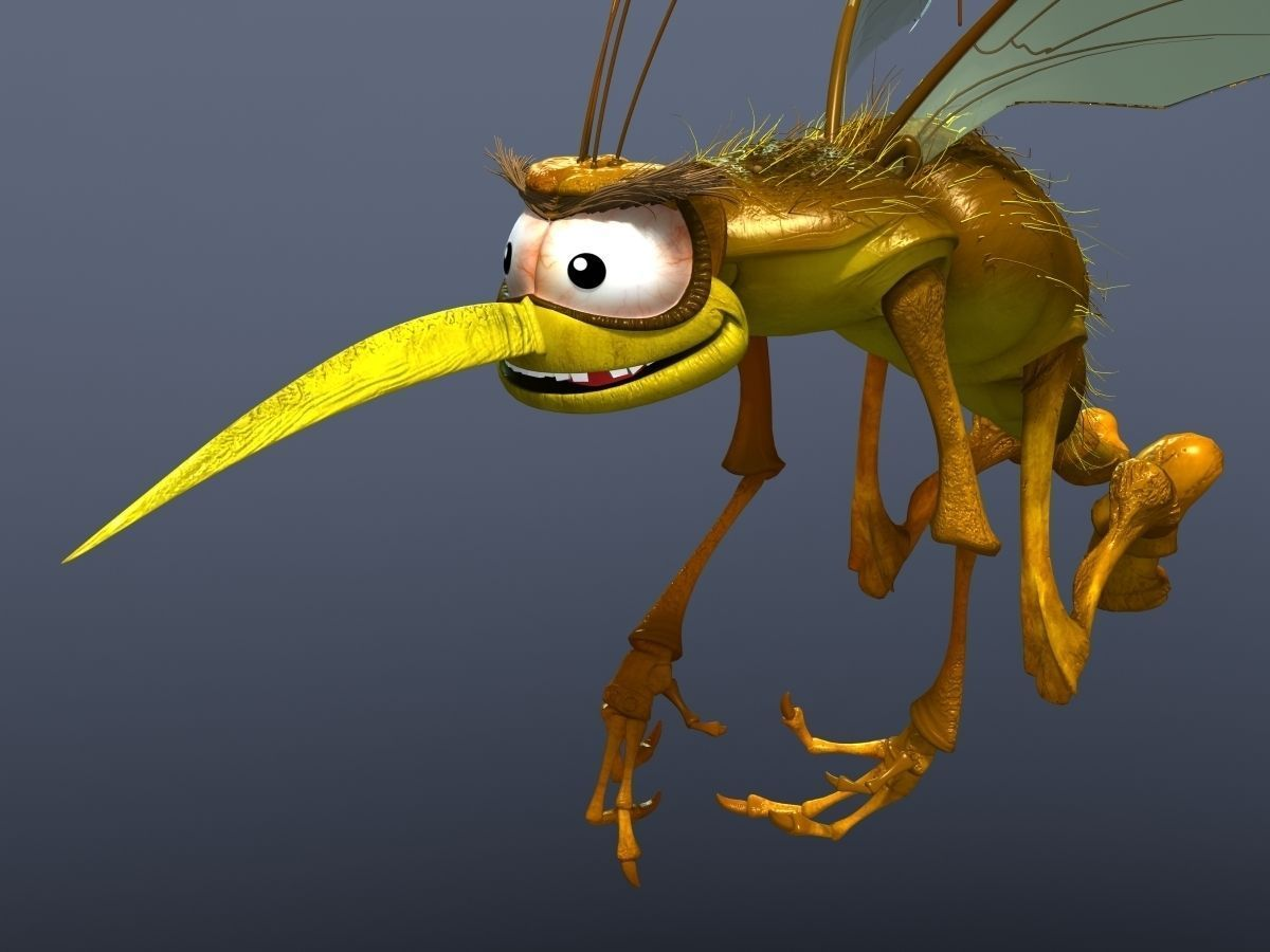 Mosquito Cartoon 3d Model Cgtrader