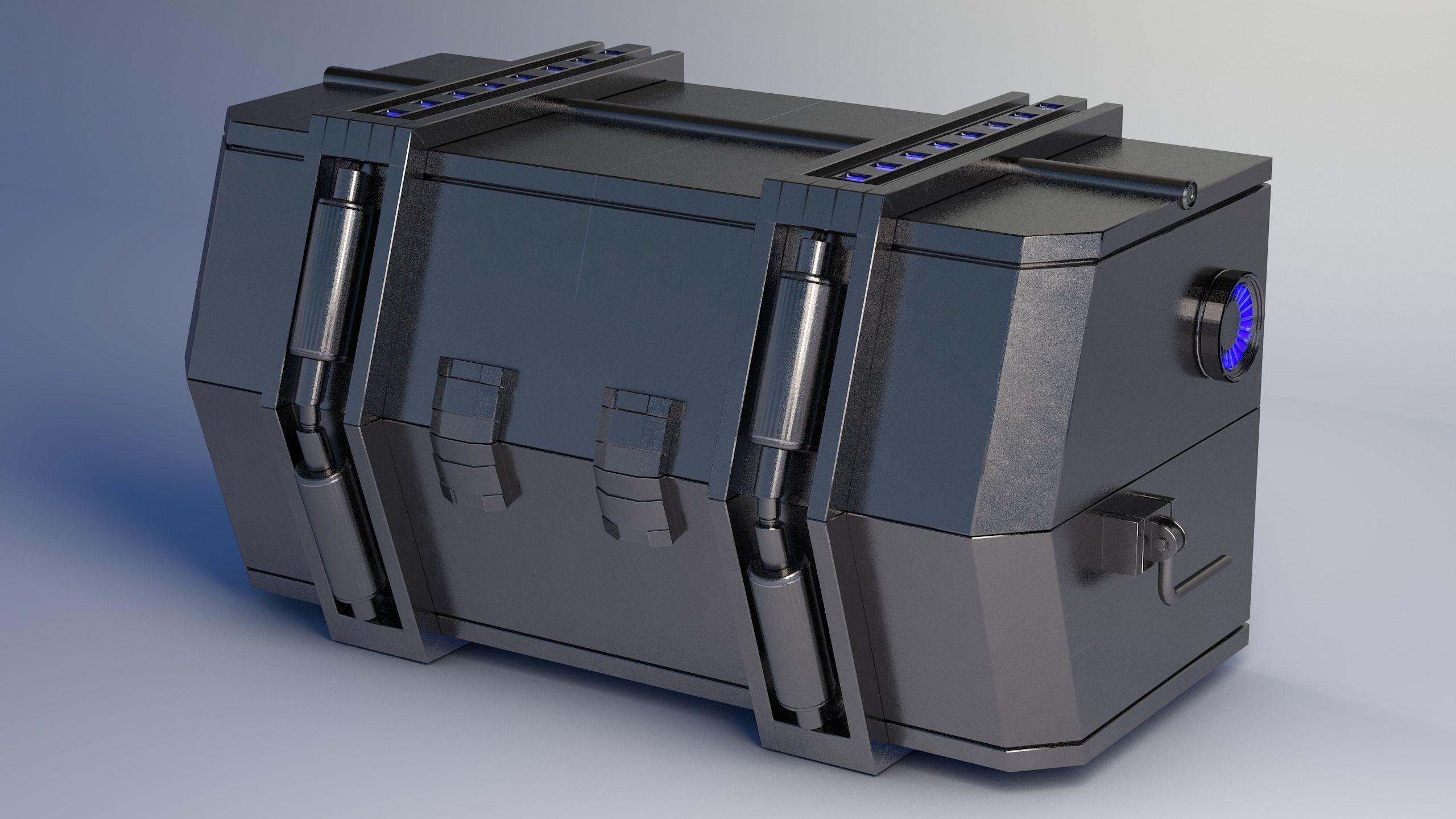 Crate SciFi - PBR Asset Low-poly 3D model
