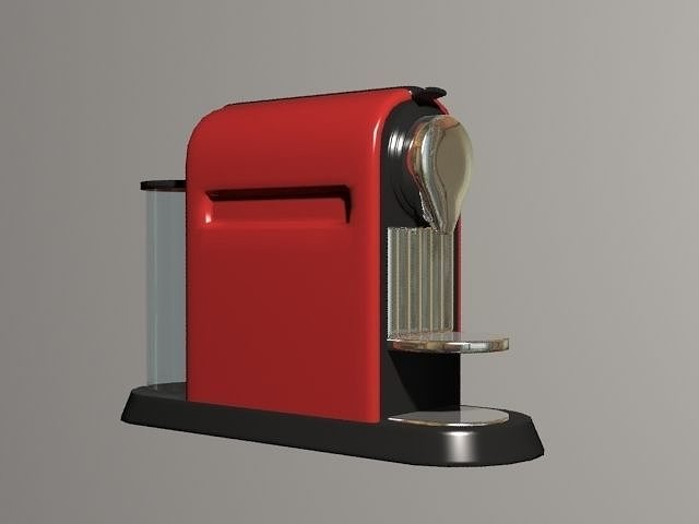 nespresso coffee machine 3d model cgtrader. Black Bedroom Furniture Sets. Home Design Ideas