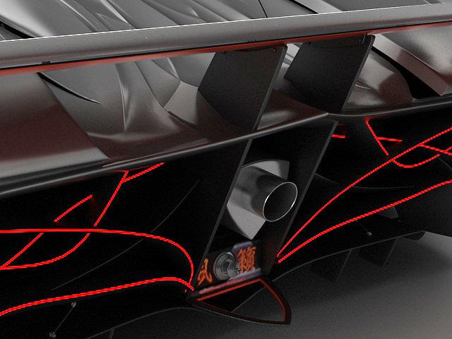 mazda furai interior. mazda furai 3d model max obj fbx lwo lw lws 11 interior