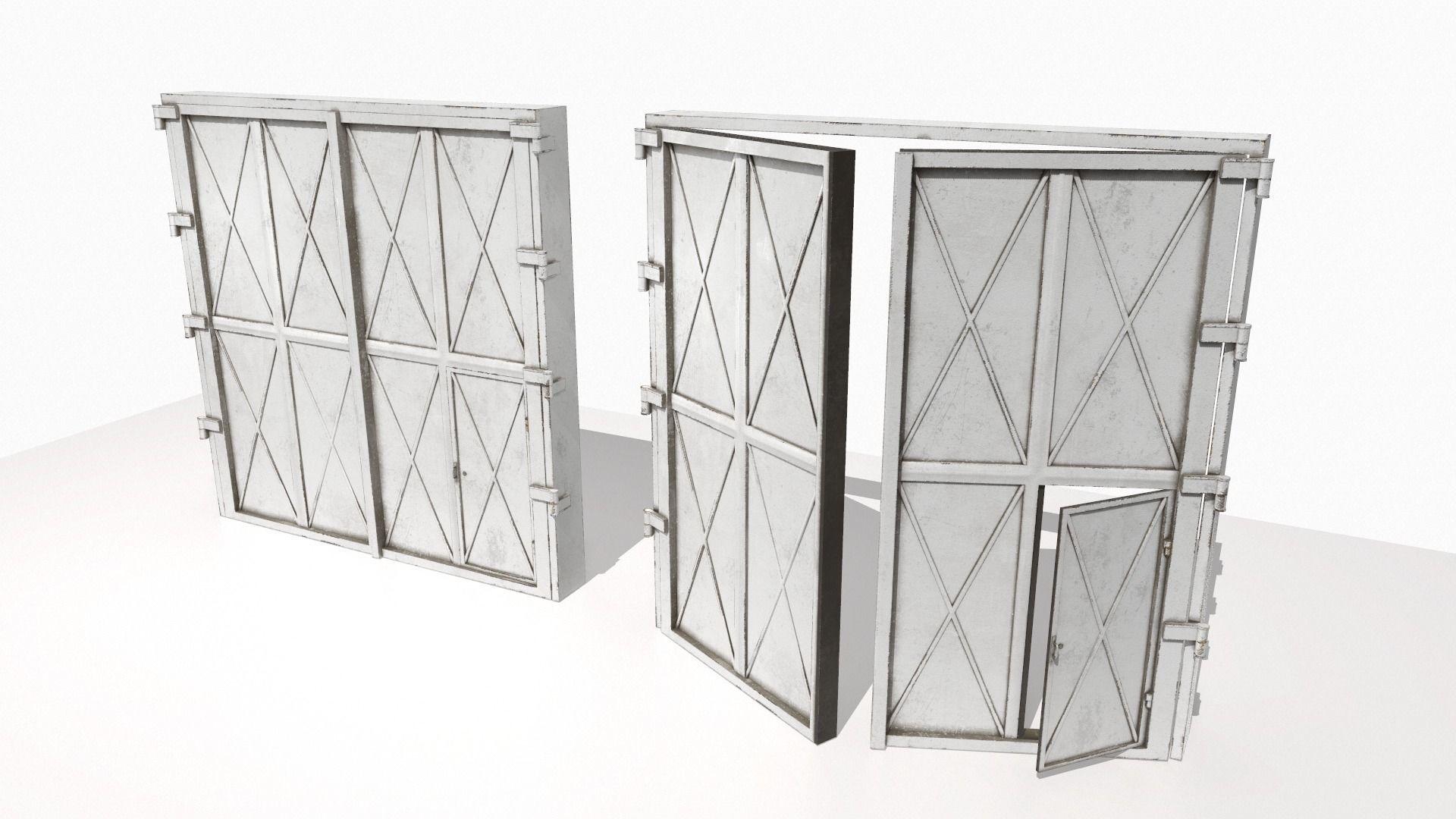 Industrial metal gate 1